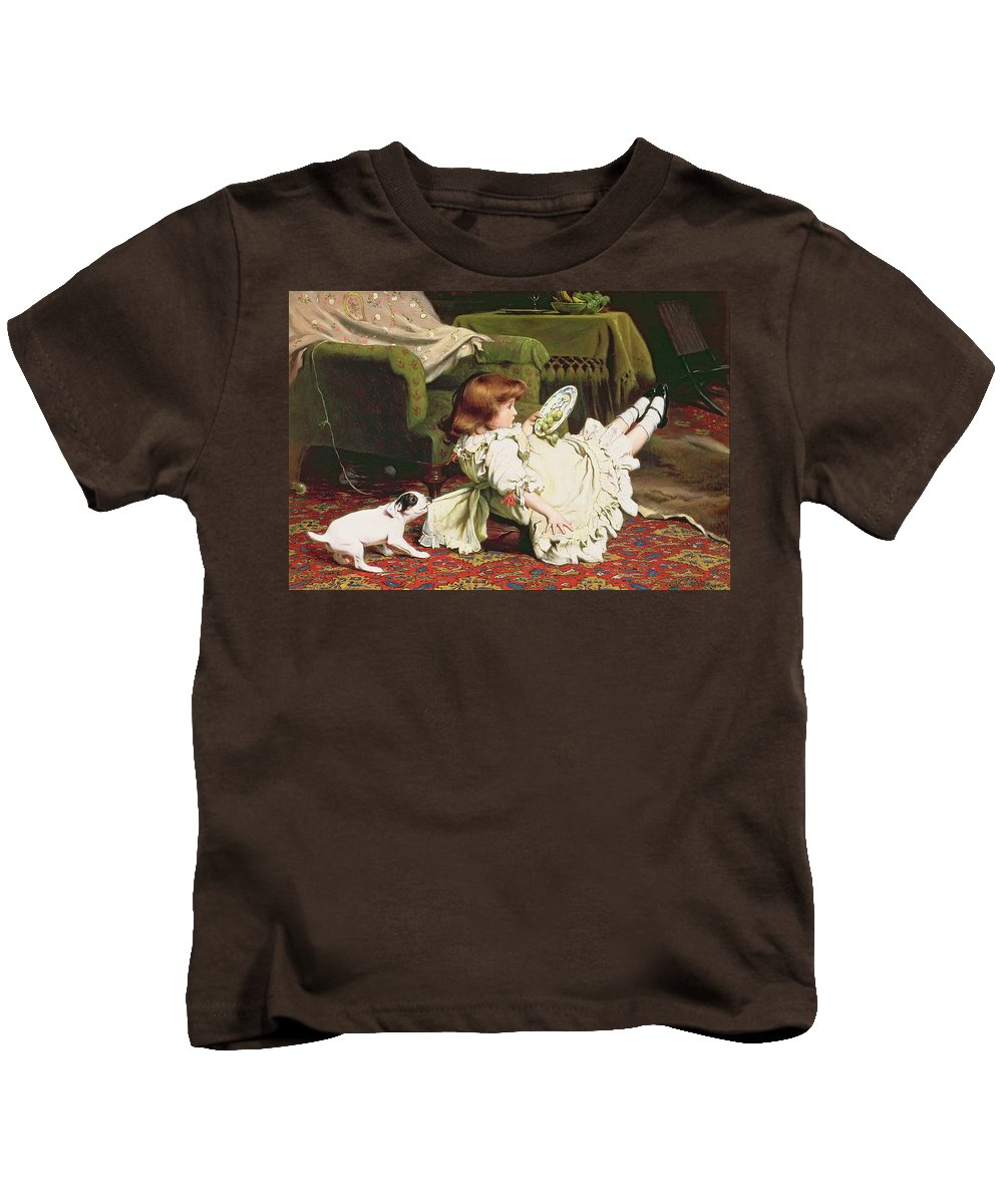 Naughty Kids T-Shirt featuring the painting Time To Play by Charles Burton Barber