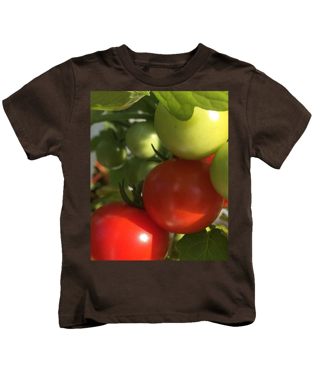 Tomatoes Kids T-Shirt featuring the photograph Tomatoes by Lisa Cassinari
