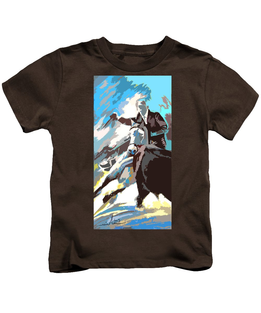 Animals Kids T-Shirt featuring the painting Toroscape 31 by Miki De Goodaboom