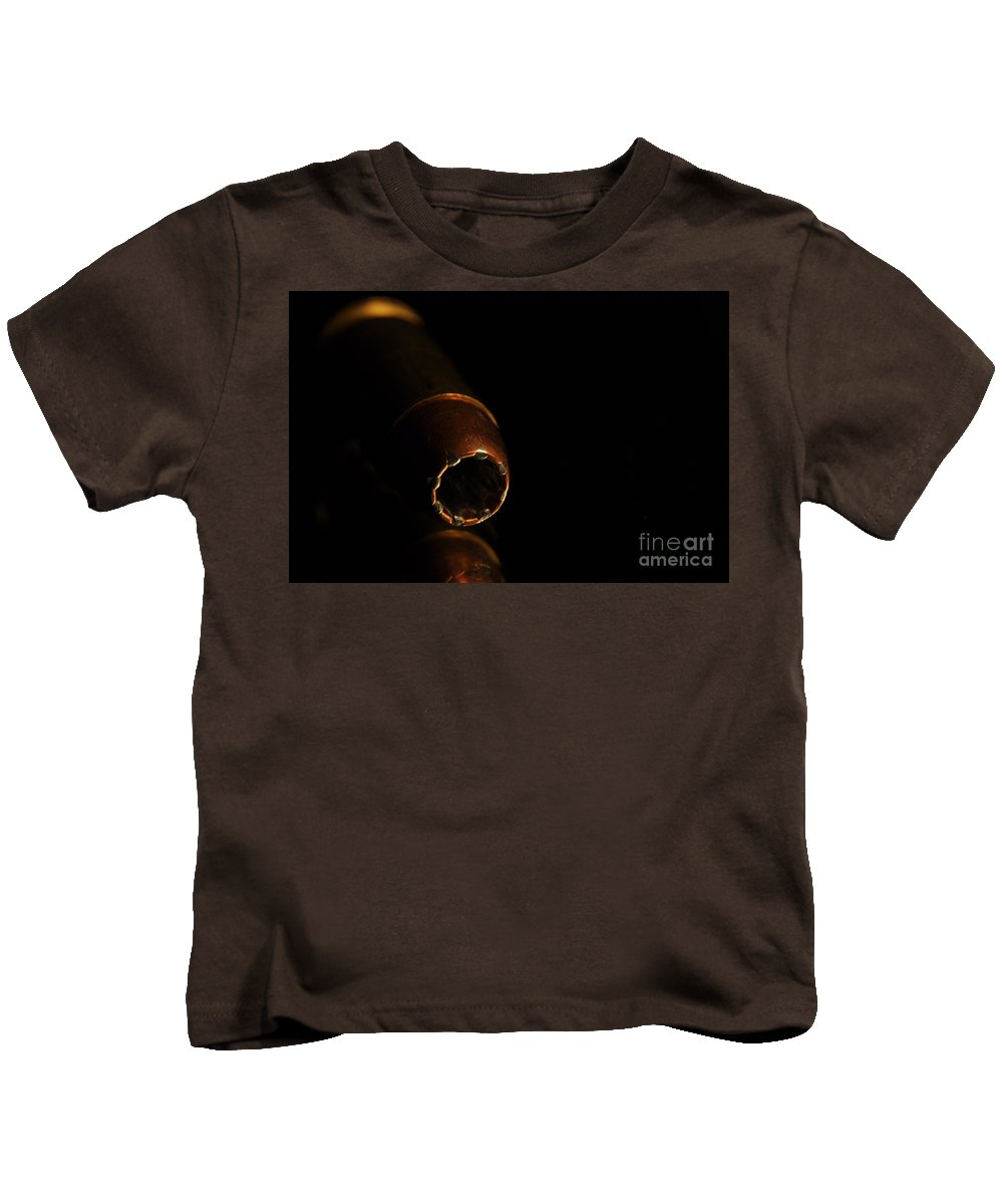 .45 Kids T-Shirt featuring the photograph Total Destruction by Crystal J Harwood
