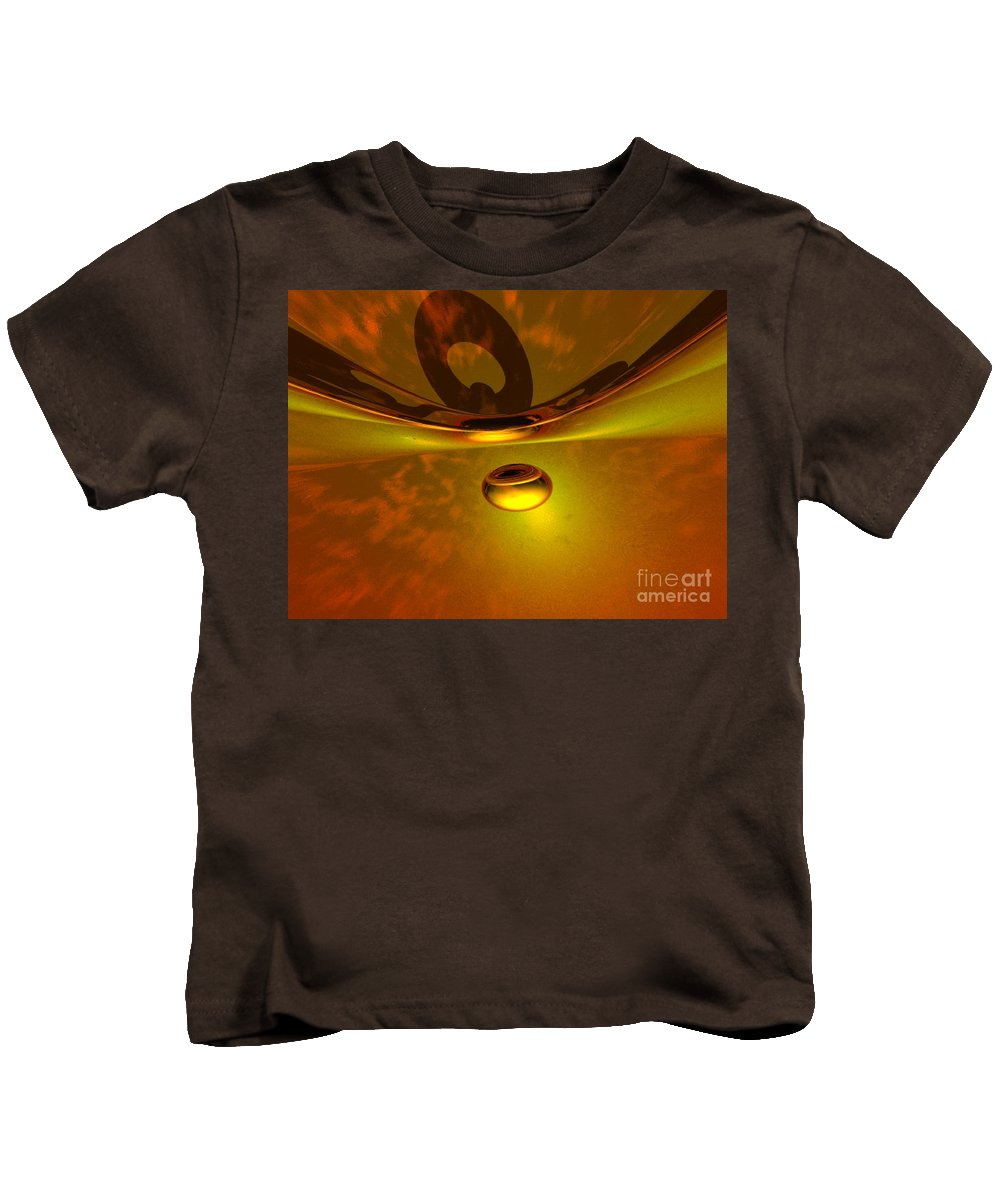 Visionary Kids T-Shirt featuring the digital art Transcending by Oscar Basurto Carbonell