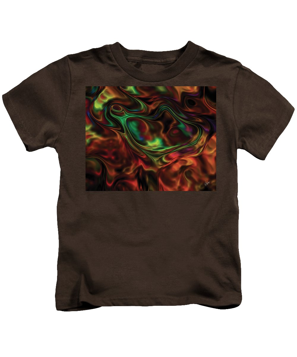 Abstract Kids T-Shirt featuring the digital art Transmogrification by Amy Nordby