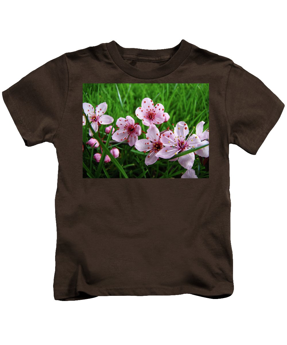 �blossoms Artwork� Kids T-Shirt featuring the photograph Tree Blossoms 4 Spring Flowers Art Prints Giclee Flower Blossoms by Baslee Troutman