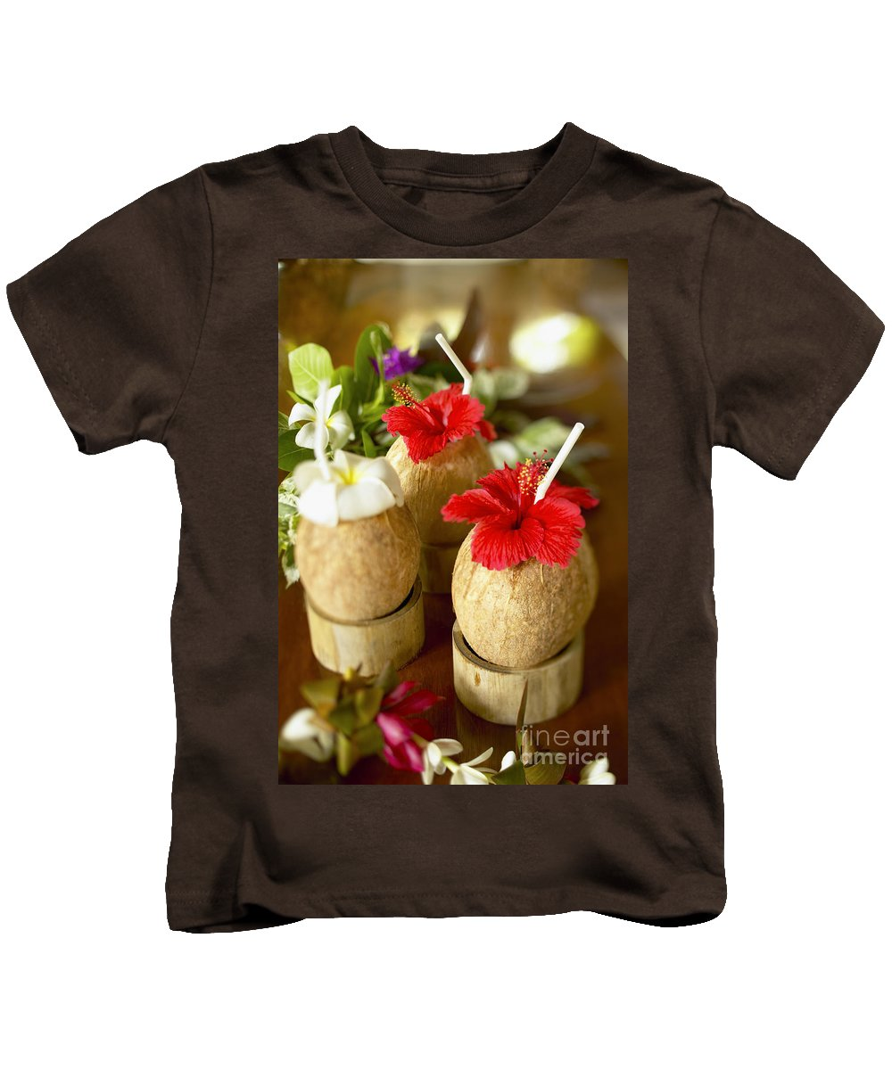Bar Kids T-Shirt featuring the photograph Tropical Cocktail by Kyle Rothenborg - Printscapes
