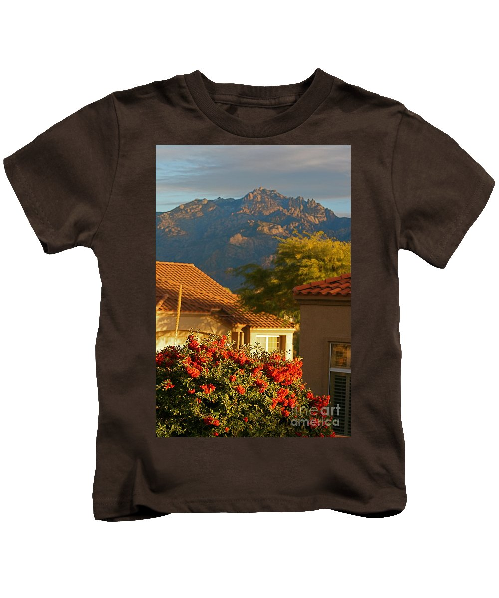 Mountains Kids T-Shirt featuring the photograph Tucson Beauty by Nadine Rippelmeyer