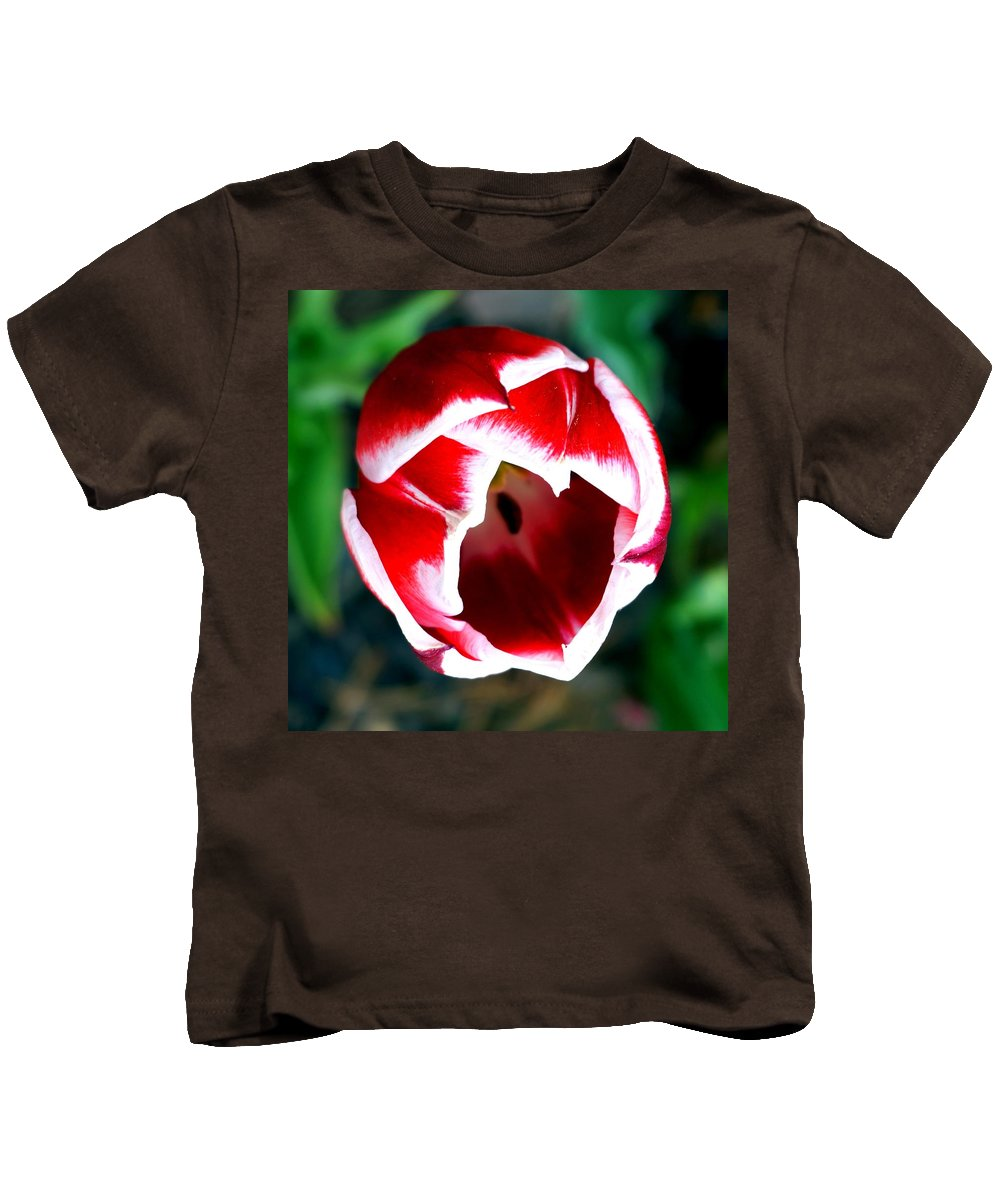 Spring Kids T-Shirt featuring the photograph Tulip Opening by Katy Hawk