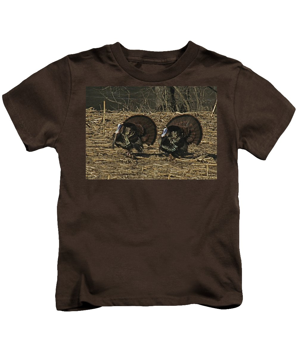 Turkey Kids T-Shirt featuring the photograph Turkeystrutin by Robert Pearson