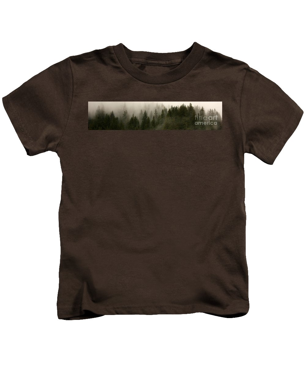 Forks Kids T-Shirt featuring the photograph Twilight Mist by Carol Groenen