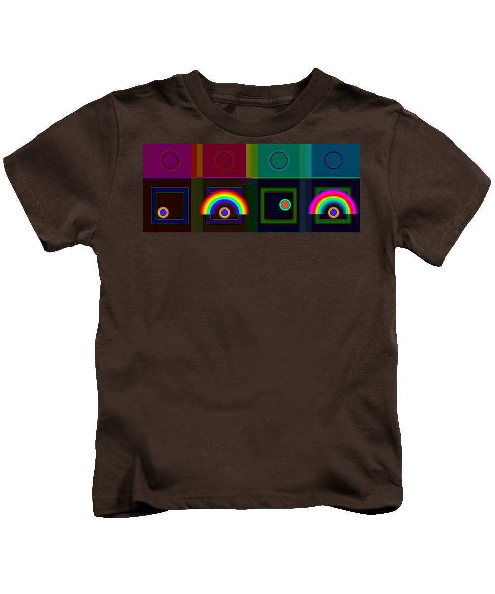 Classical Kids T-Shirt featuring the digital art Two Rainbows by Charles Stuart