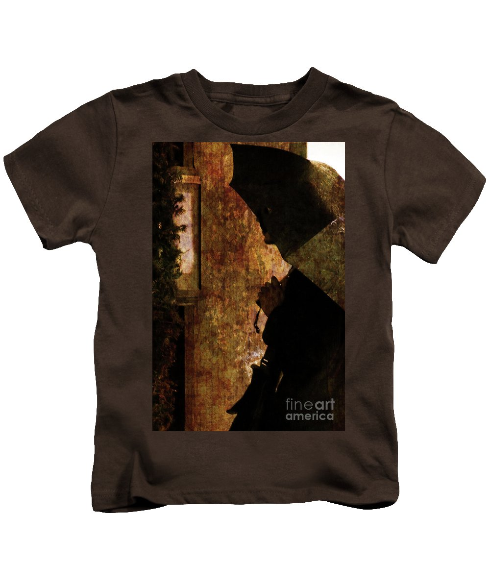 Umbrella Kids T-Shirt featuring the photograph Umbrella by Kathleen K Parker