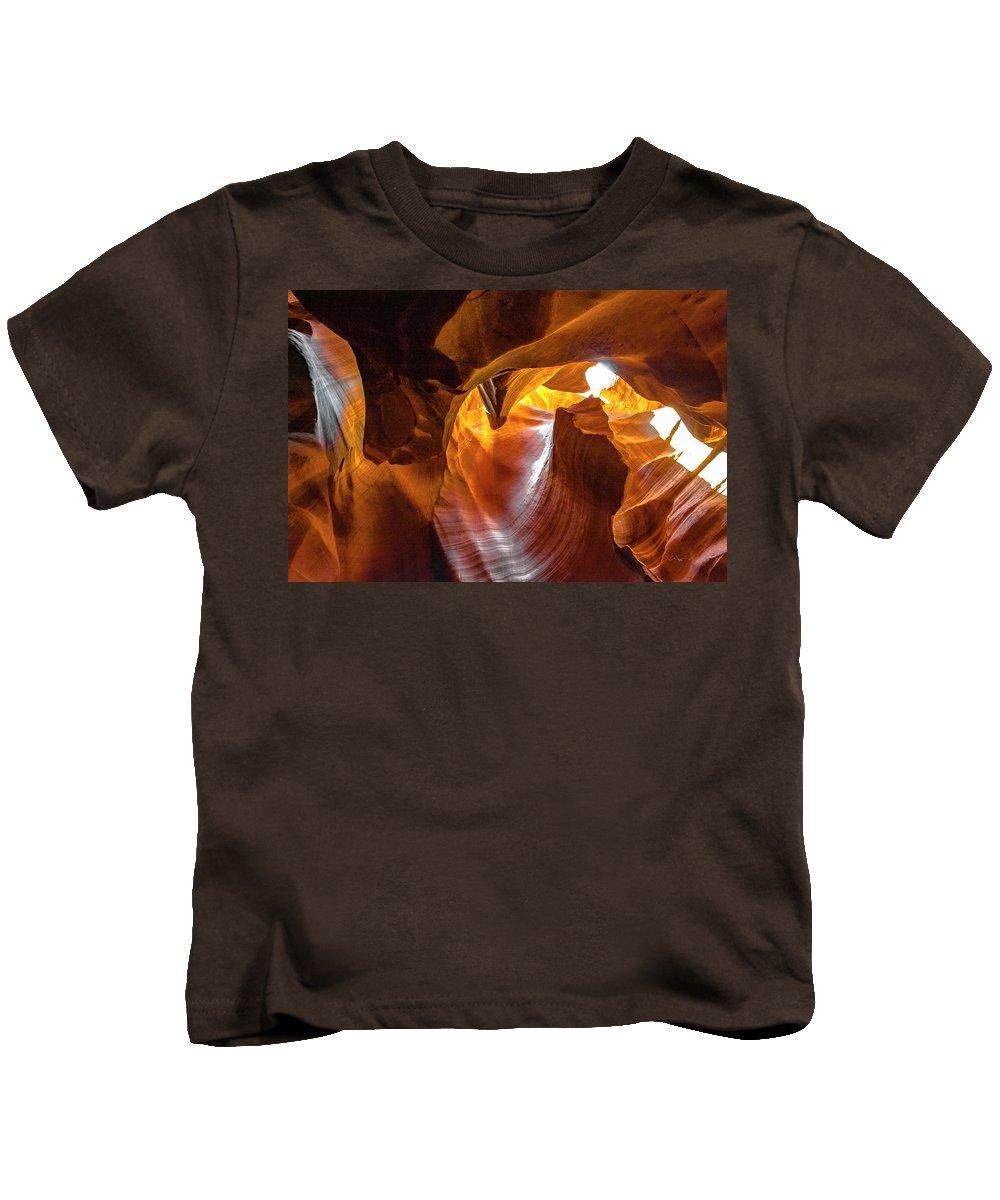 Landscape Kids T-Shirt featuring the photograph Upper Antelope Canyon Beauty Natural by William Zayas Cruz
