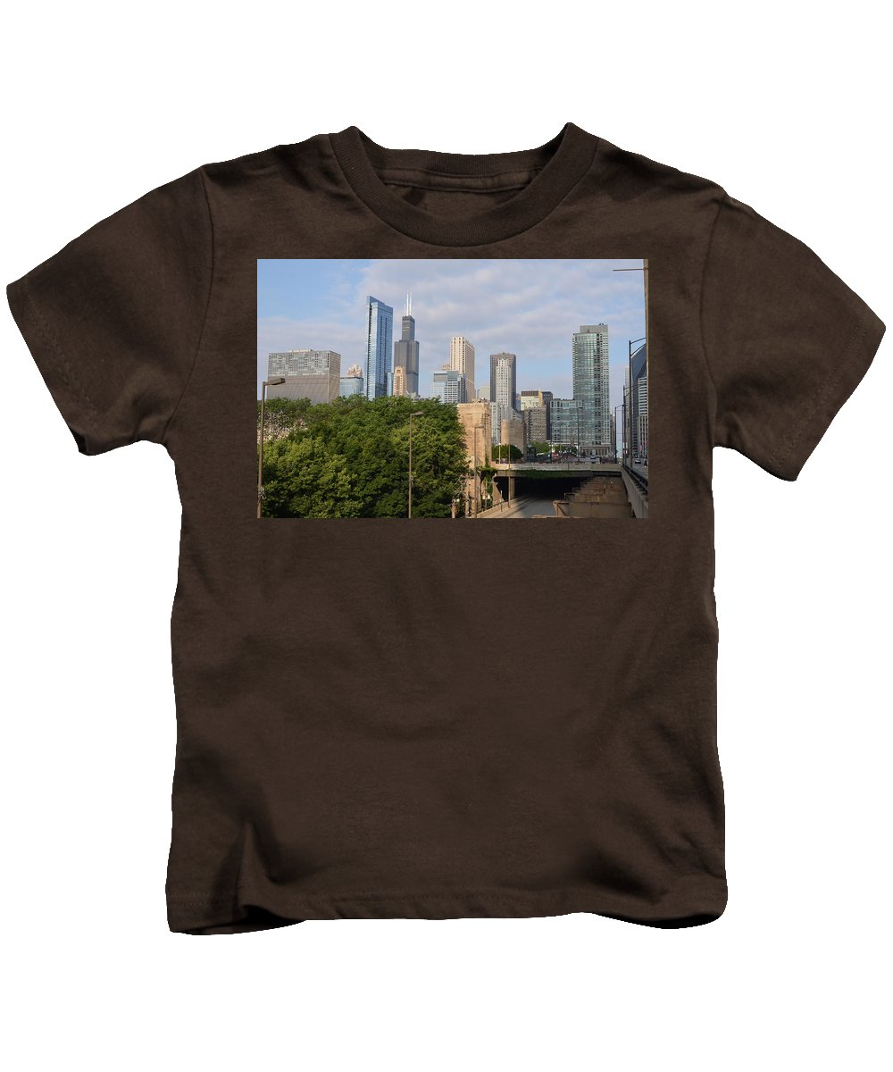 Chicago Kids T-Shirt featuring the photograph View Of A City by Tammy Mutka