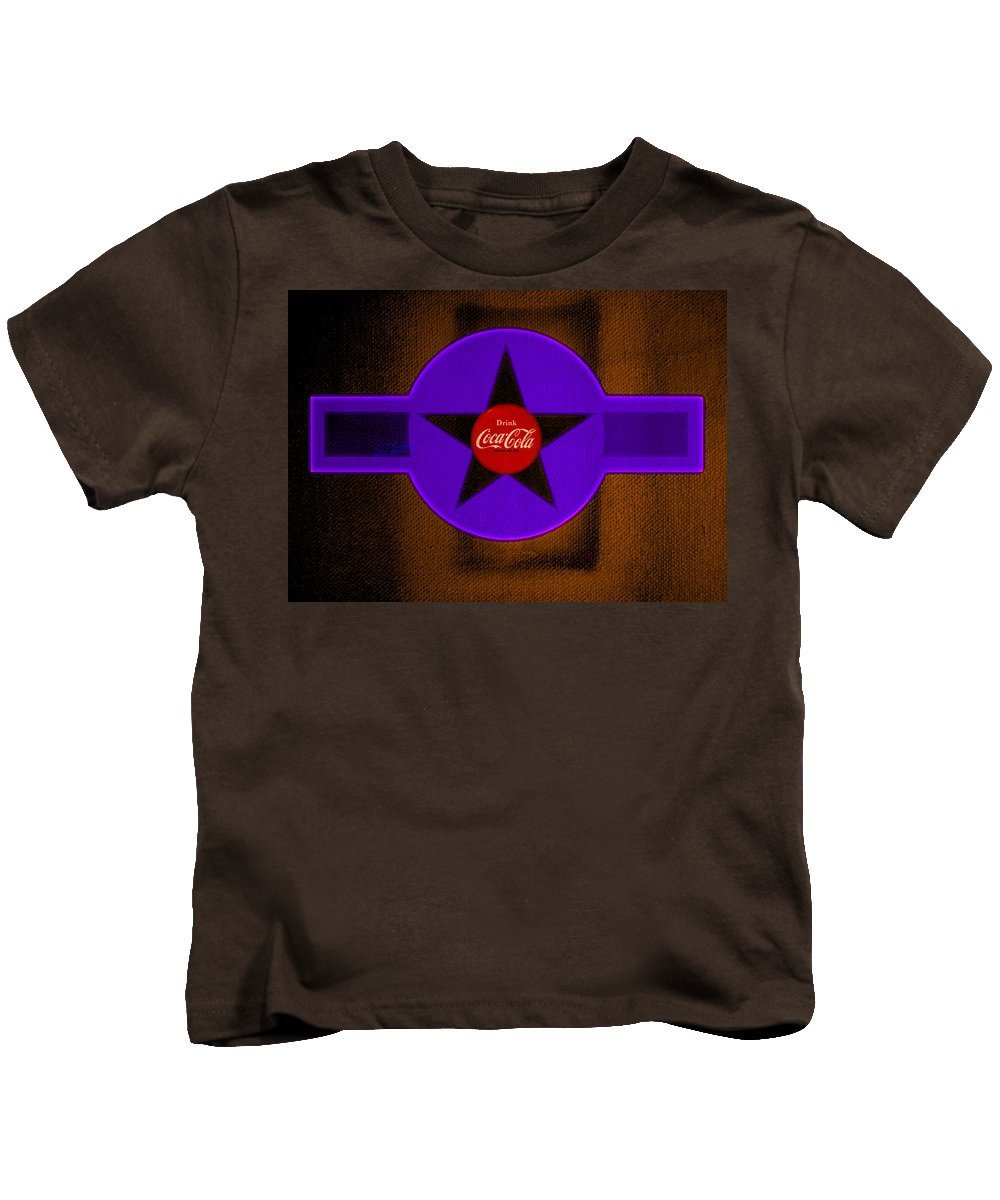 Label Kids T-Shirt featuring the painting Violet With Red And Orange by Charles Stuart