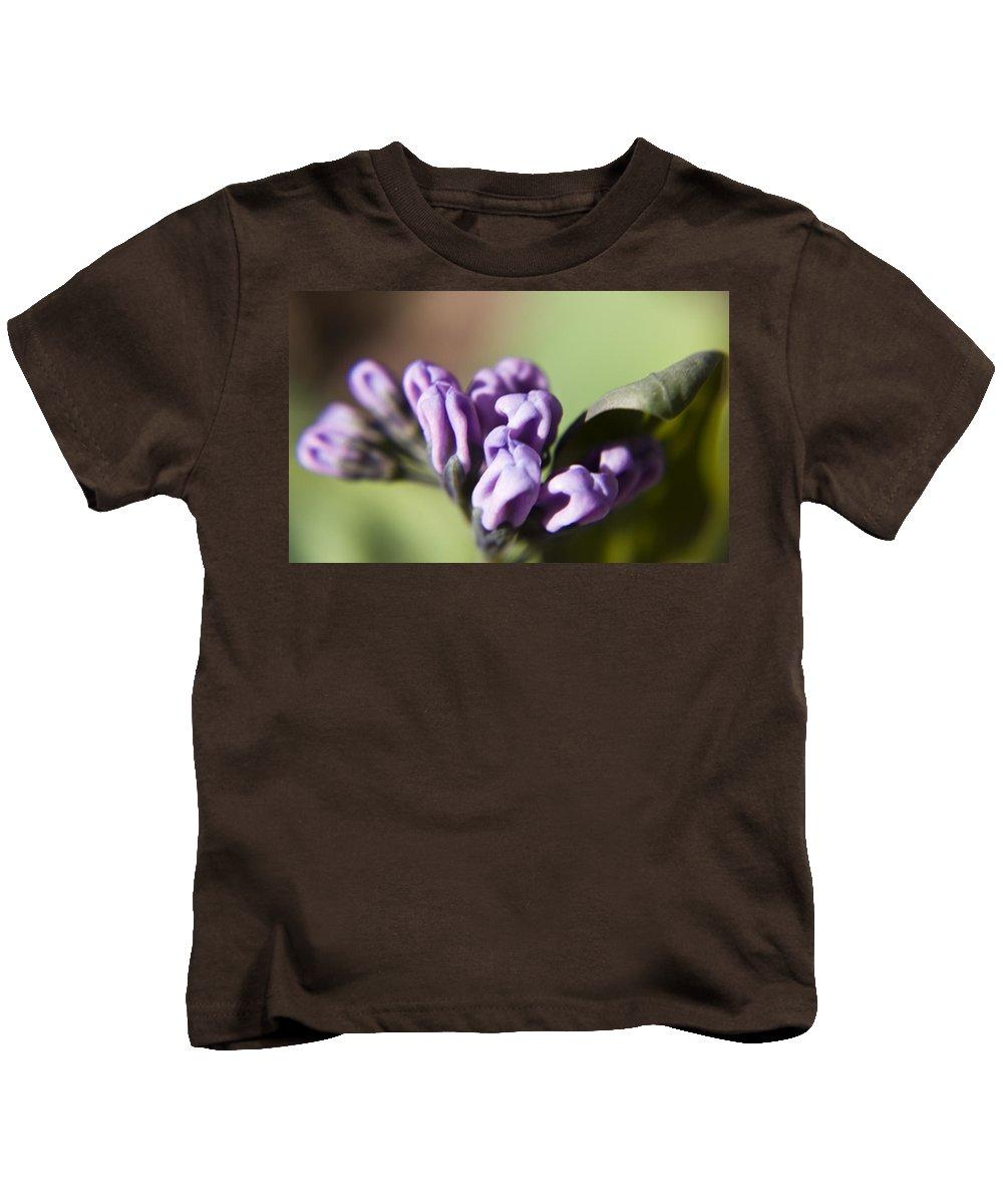Virginia Kids T-Shirt featuring the photograph Virginia Bluebell Buds by Teresa Mucha