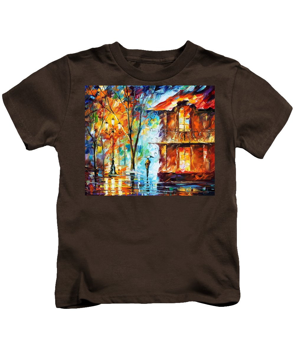 Afremov Kids T-Shirt featuring the painting Vitebsk by Leonid Afremov