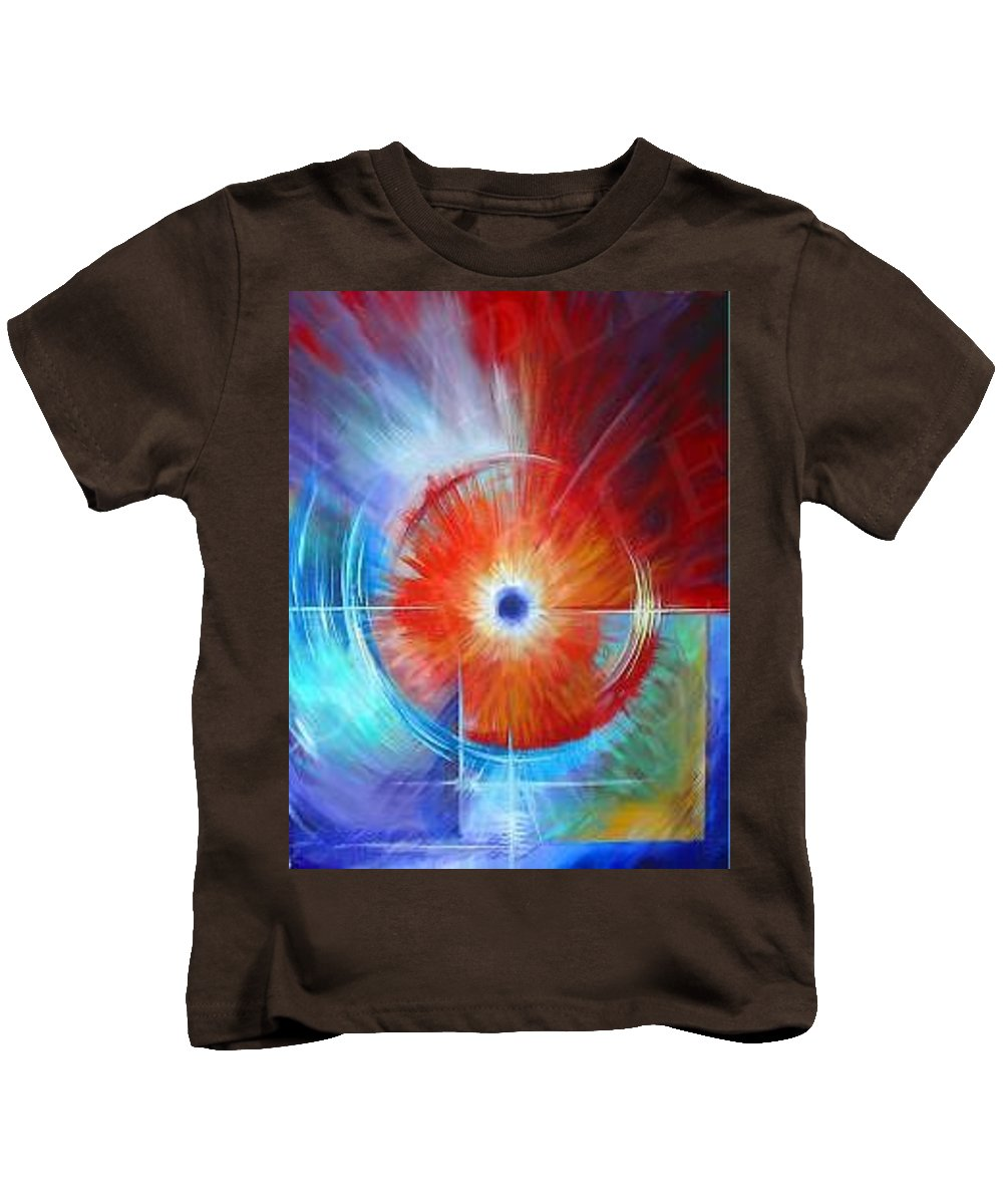 Clouds Kids T-Shirt featuring the painting Vortex by James Christopher Hill