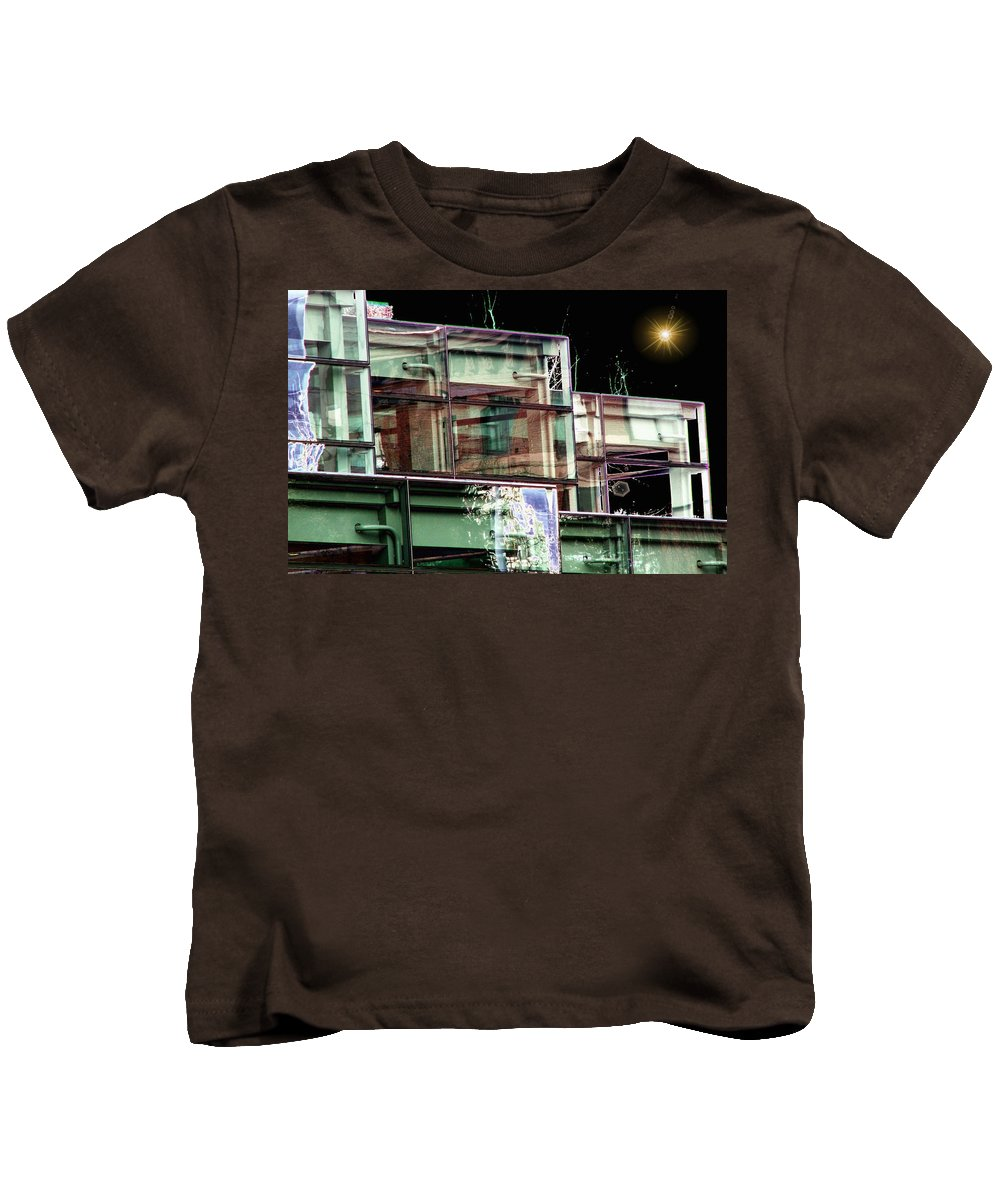 Seattle Kids T-Shirt featuring the digital art Wa State Convention And Trade Center by Tim Allen