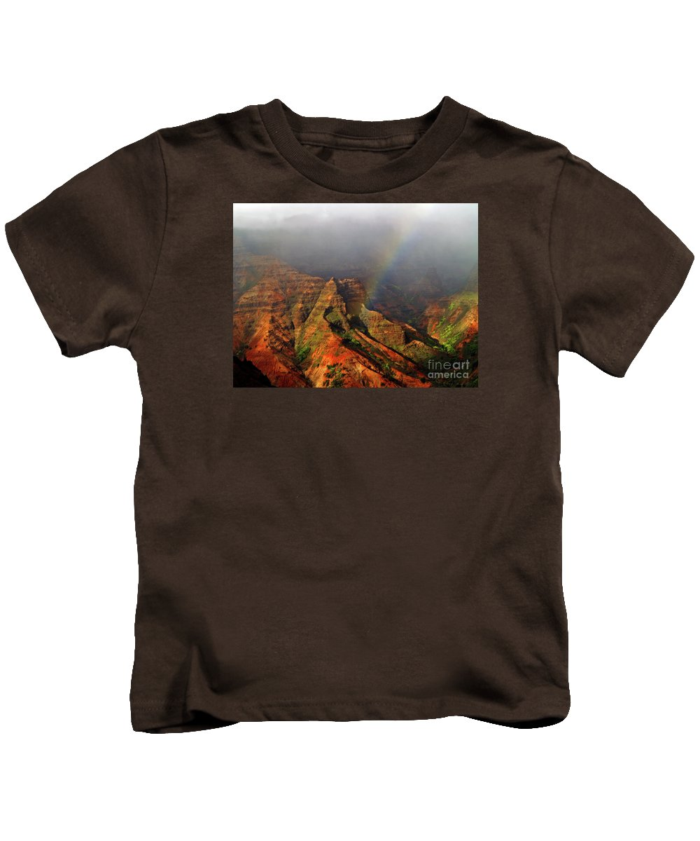 Fine Art Photography Kids T-Shirt featuring the photograph Waimea Canyon I by Patricia Griffin Brett