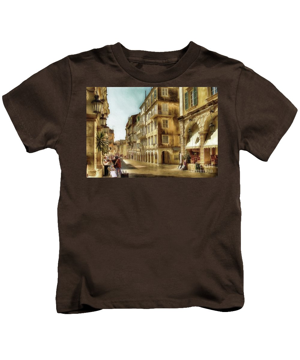 Corfu Kids T-Shirt featuring the photograph Waiting For The Tourists by Lois Bryan