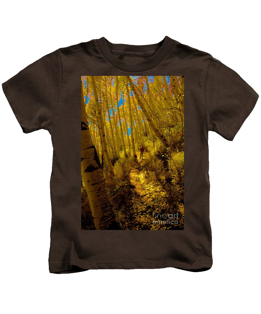 Fall Kids T-Shirt featuring the painting Walking With Autumn by David Lee Thompson