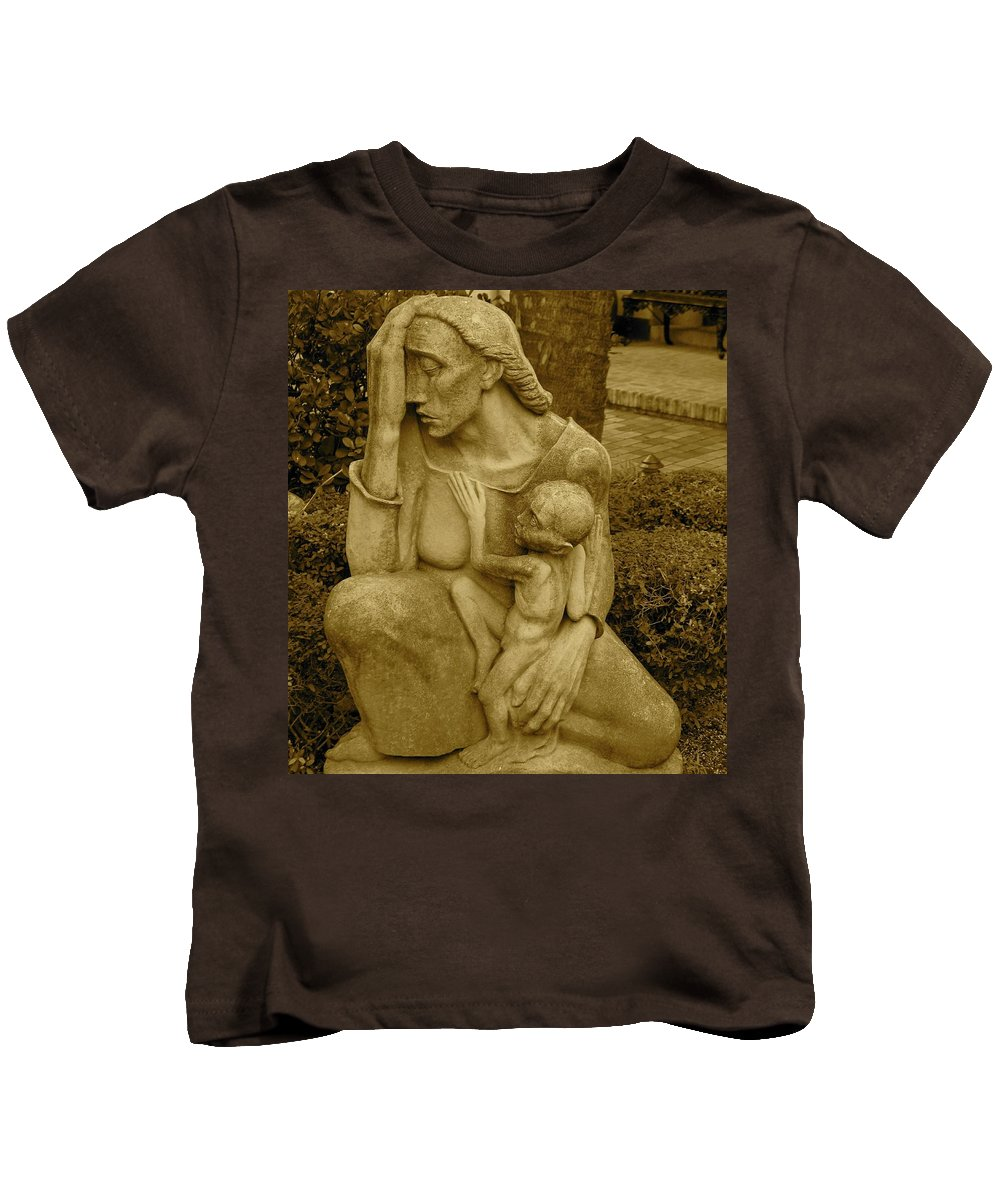 War Mother Kids T-Shirt featuring the photograph War Mother By Charles Umlauf by Gia Marie Houck