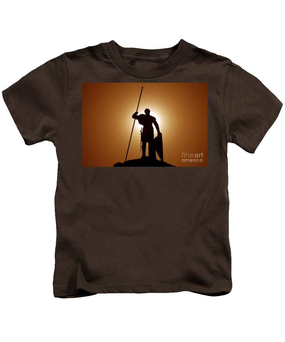 Warrior Kids T-Shirt featuring the photograph Warrior by David Lee Thompson