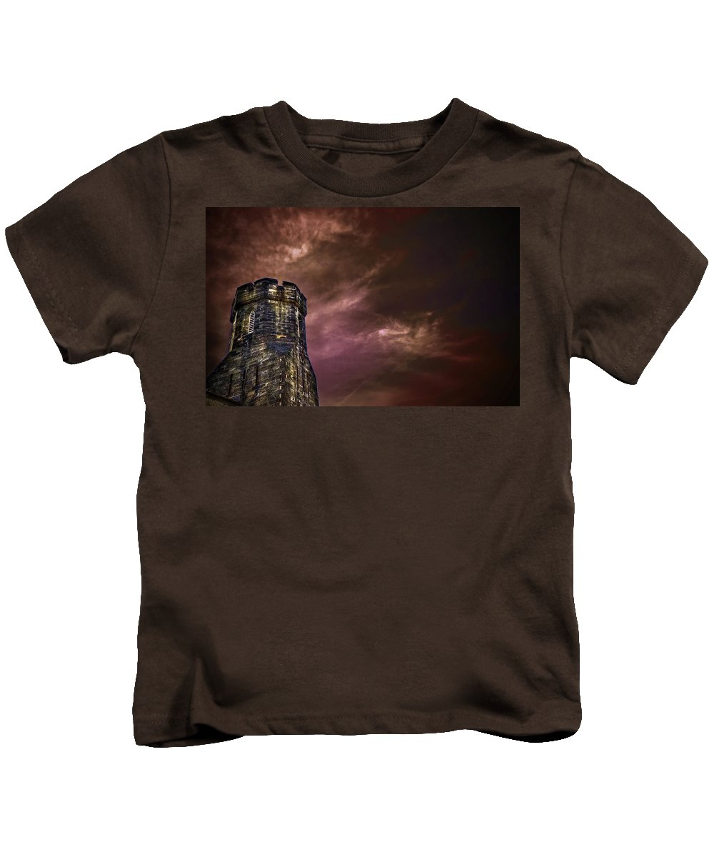 Tower Kids T-Shirt featuring the photograph Watchtower by Evelina Kremsdorf