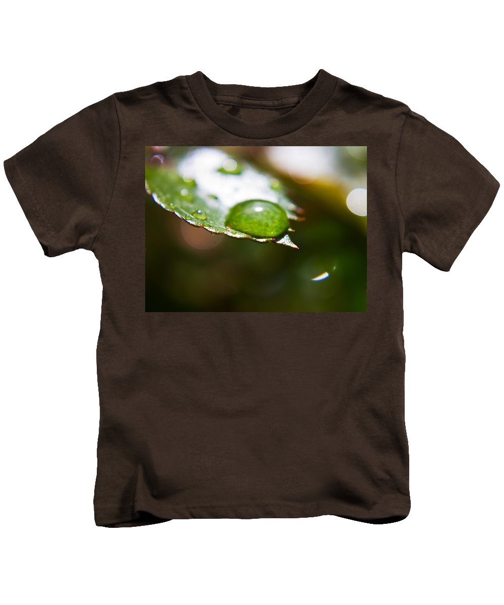Diamonds Kids T-Shirt featuring the photograph Water Diamonds 9 by Alex Art and Photo