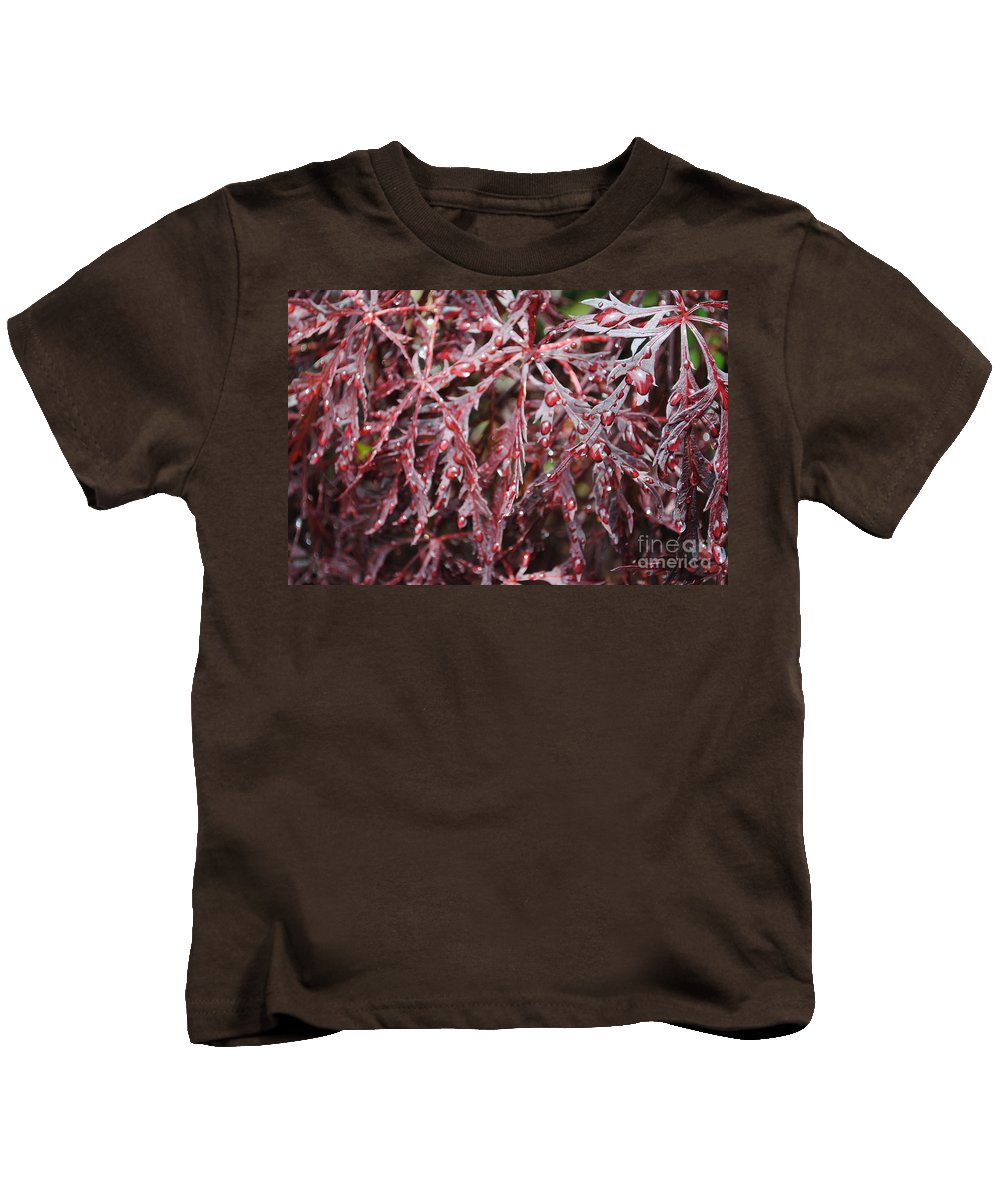 Floral Kids T-Shirt featuring the photograph Water Leaf by Jost Houk