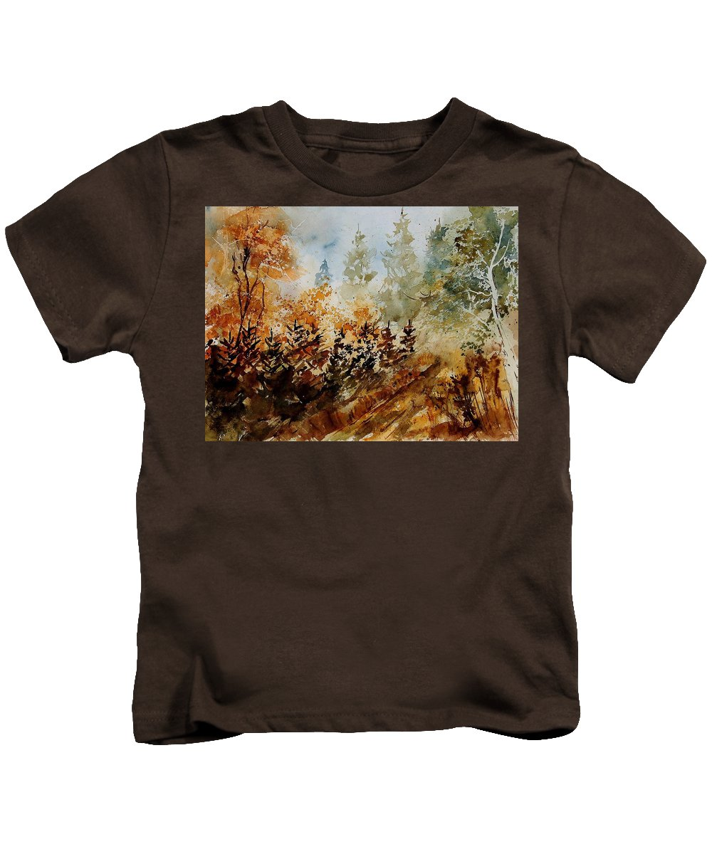 Tree Kids T-Shirt featuring the painting Watercolor 250607 by Pol Ledent