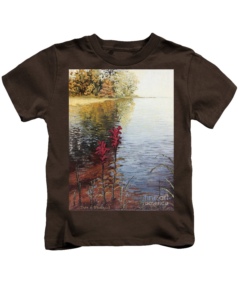 Landscape Kids T-Shirt featuring the painting Watts Bar Lake Rockwood Tn by Todd Blanchard