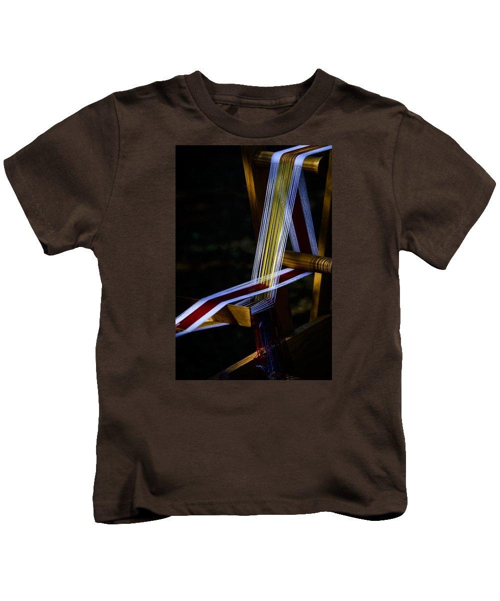 Aged Kids T-Shirt featuring the photograph Weaving At Dawn by Karen Hanley Colbert