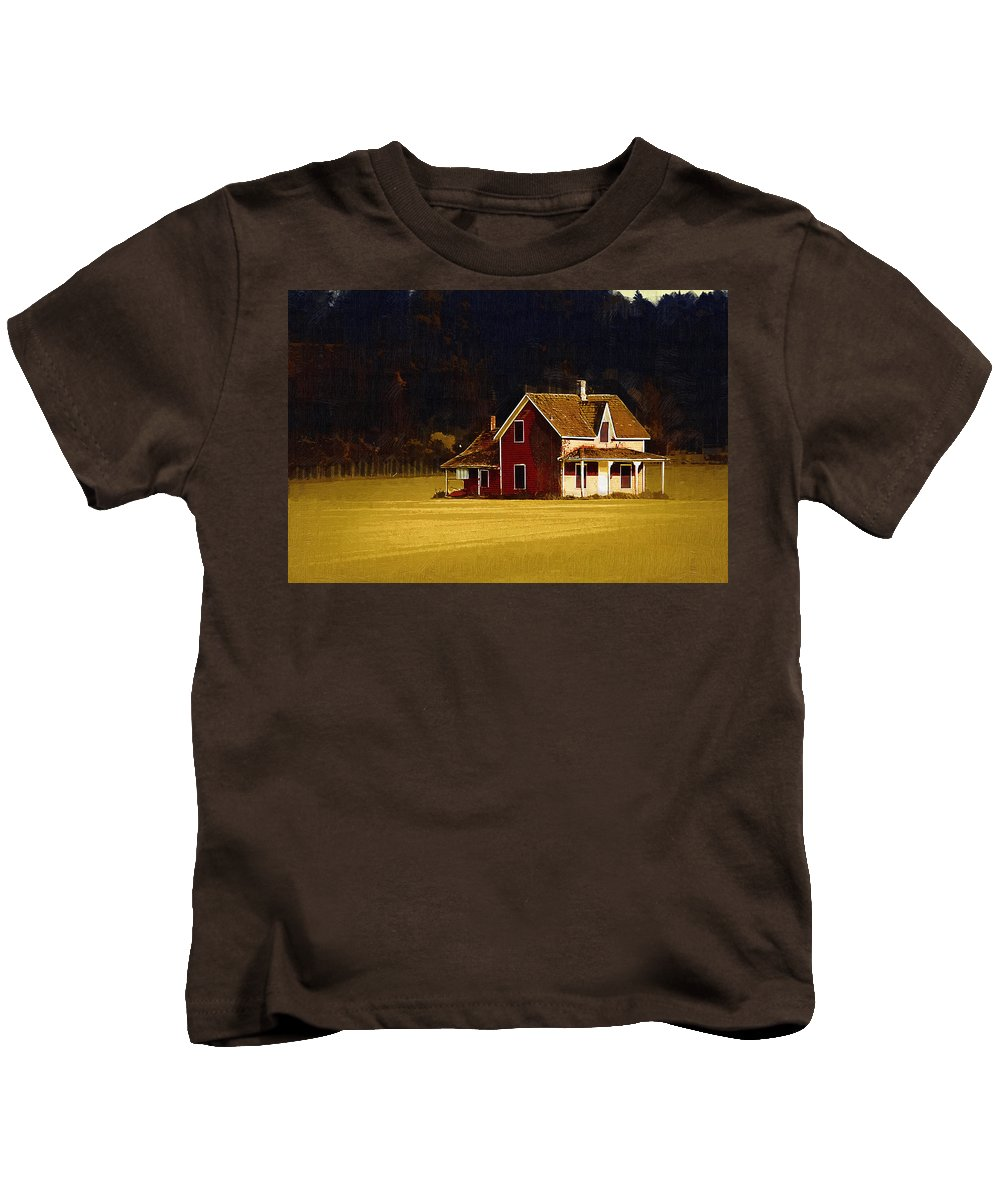 House Kids T-Shirt featuring the photograph Wee House by Monte Arnold