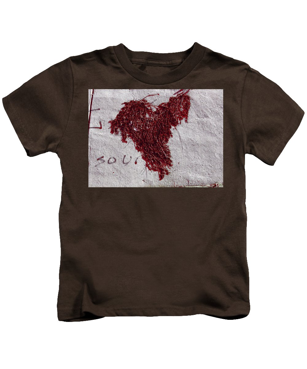 Heart Kids T-Shirt featuring the photograph Weedheart by James W Johnson