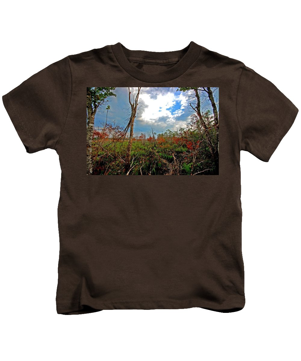 Weeks Bay Kids T-Shirt featuring the painting Weeks Bay Swamp by Michael Thomas