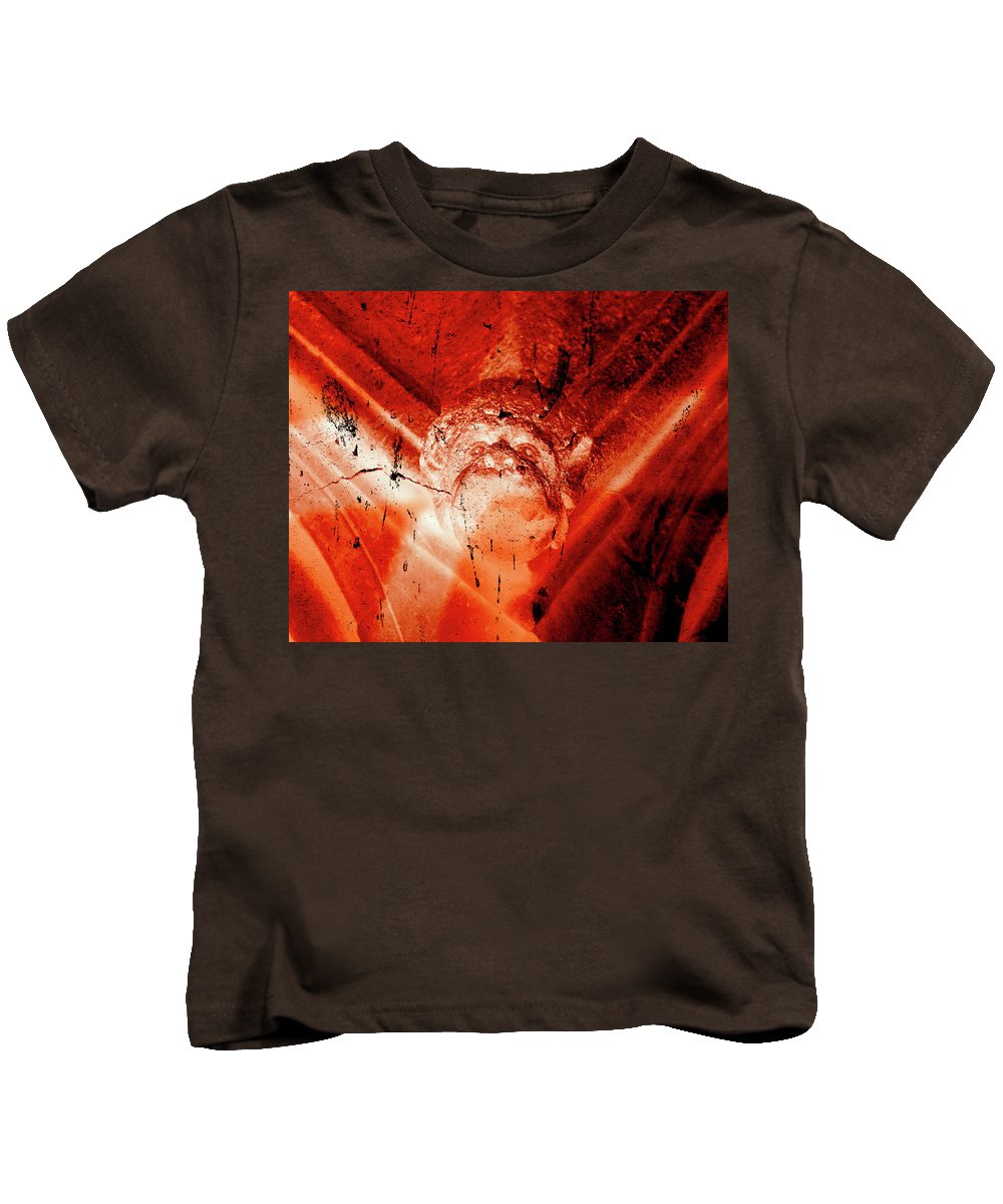 Aged Kids T-Shirt featuring the photograph Wells Cathedral Gargoyles Color Negative D by Jacek Wojnarowski