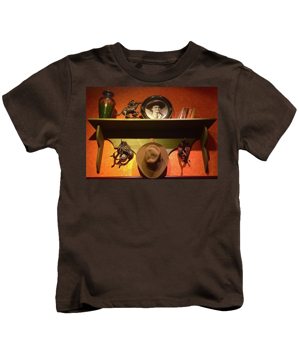 Western Tableau Kids T-Shirt featuring the photograph Western Tableau by Denise Mazzocco