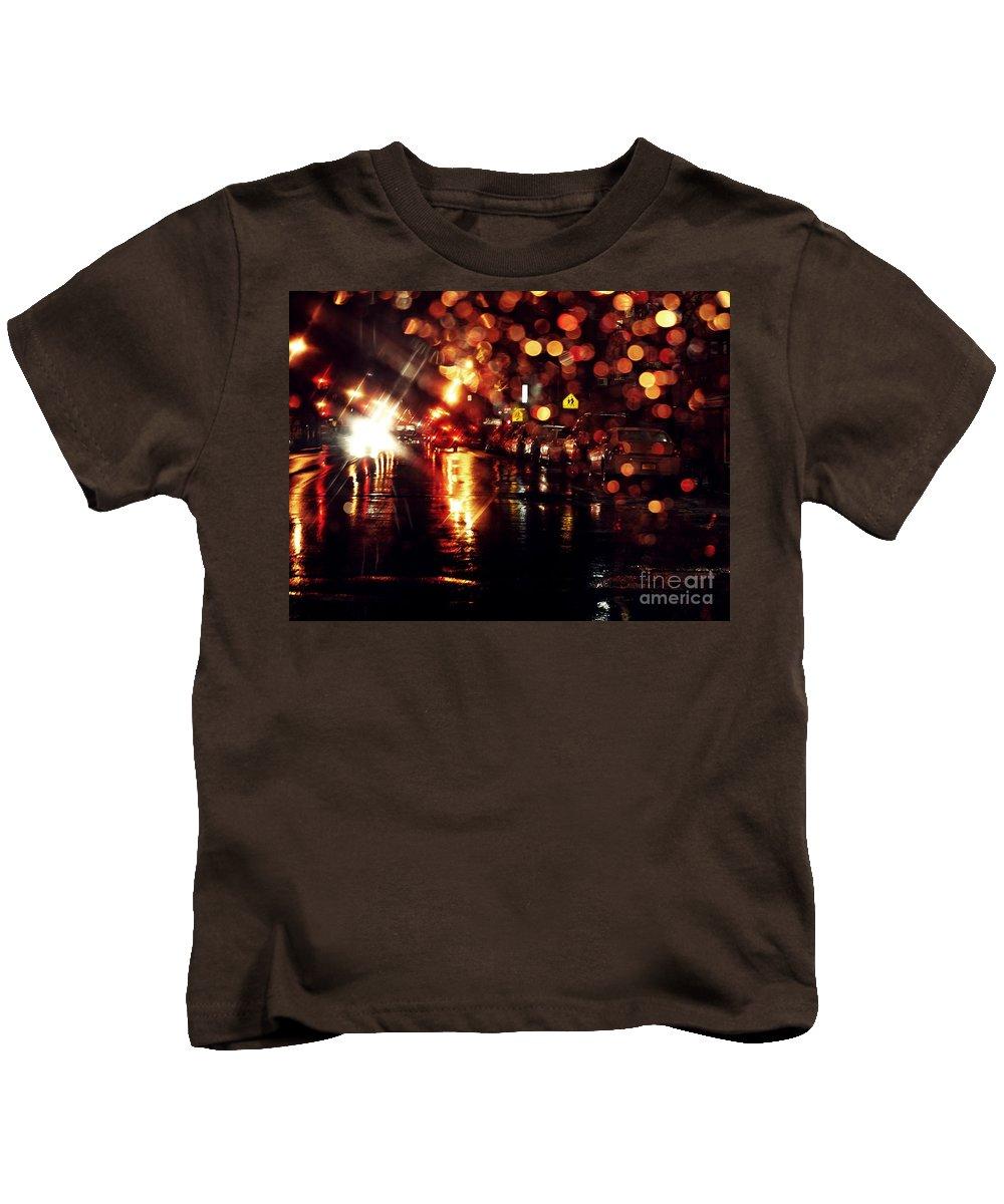 City Kids T-Shirt featuring the photograph Wet City 3 by Sarah Loft