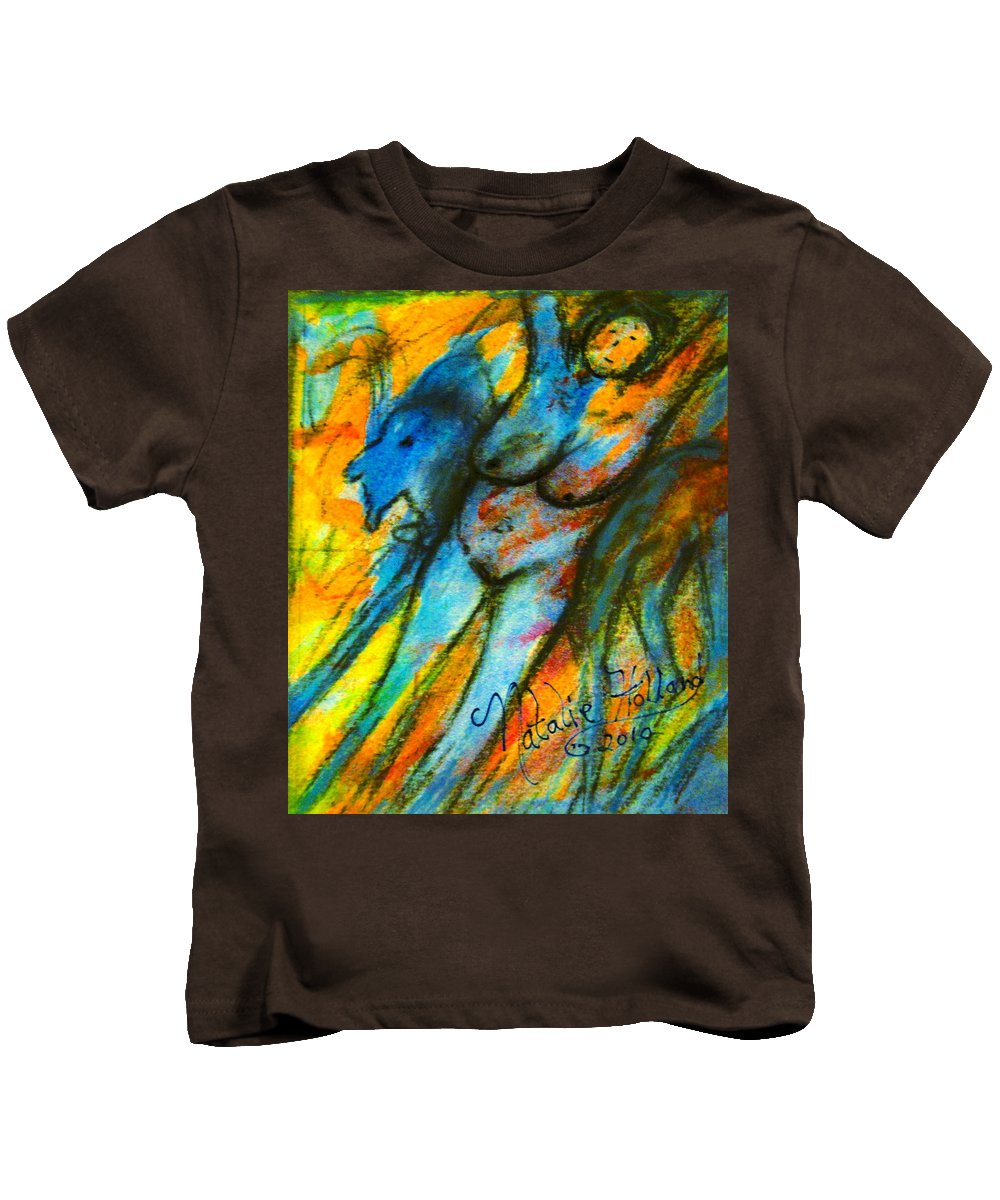 Nude Kids T-Shirt featuring the painting What Are You Looking At-3 by Natalie Holland