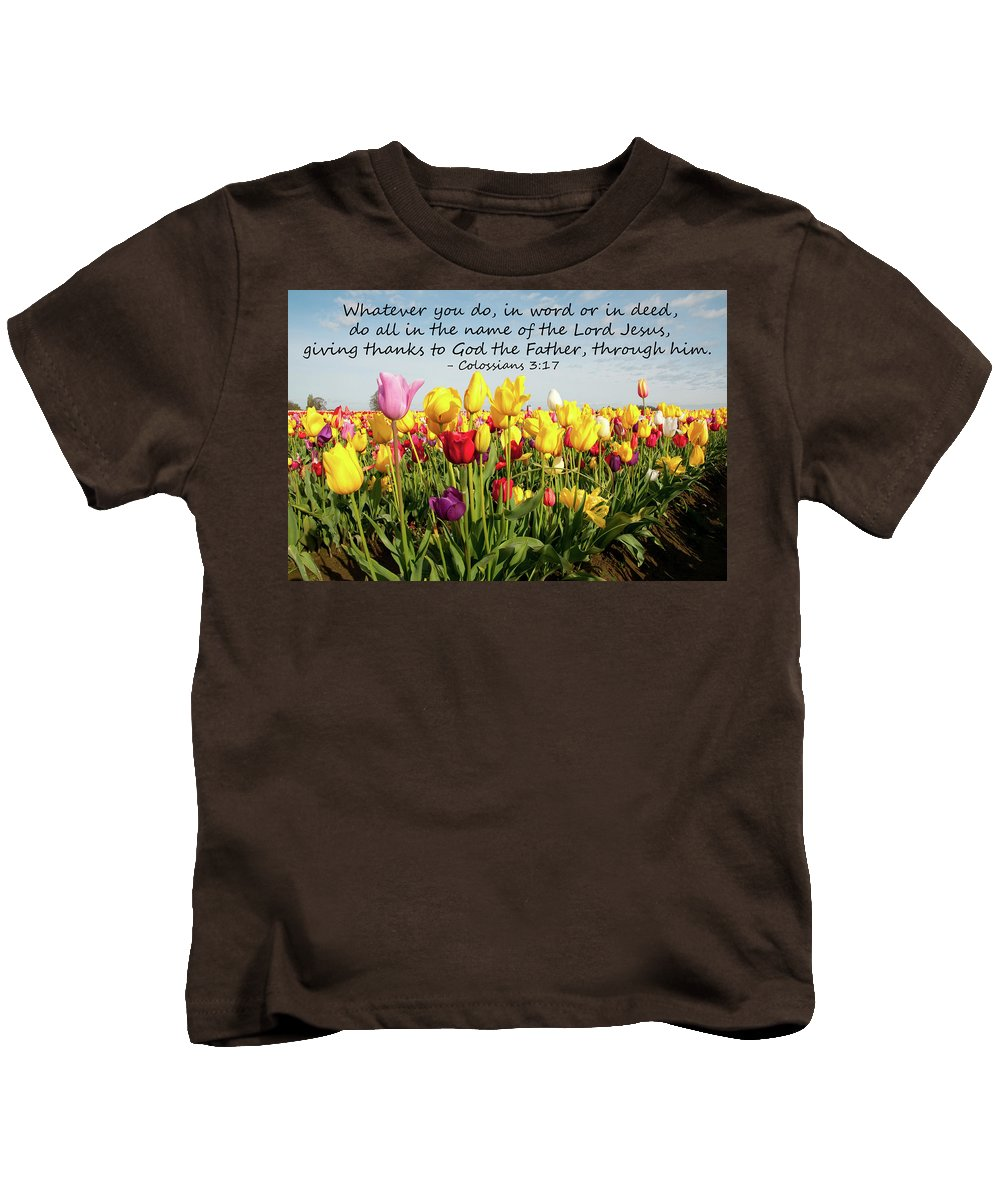 Landscape Kids T-Shirt featuring the photograph Whatever You Do by Kim Warden