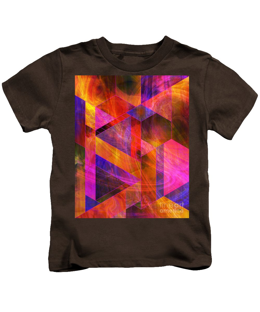 Wild Fire Kids T-Shirt featuring the digital art Wild Fire by John Beck