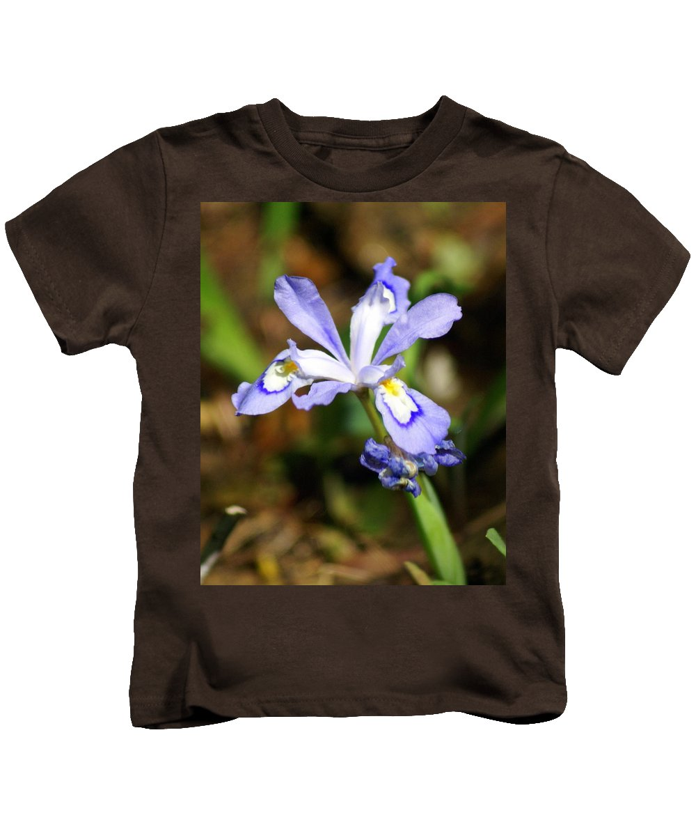 Wild Iris Kids T-Shirt featuring the photograph Wild Iris by Marty Koch
