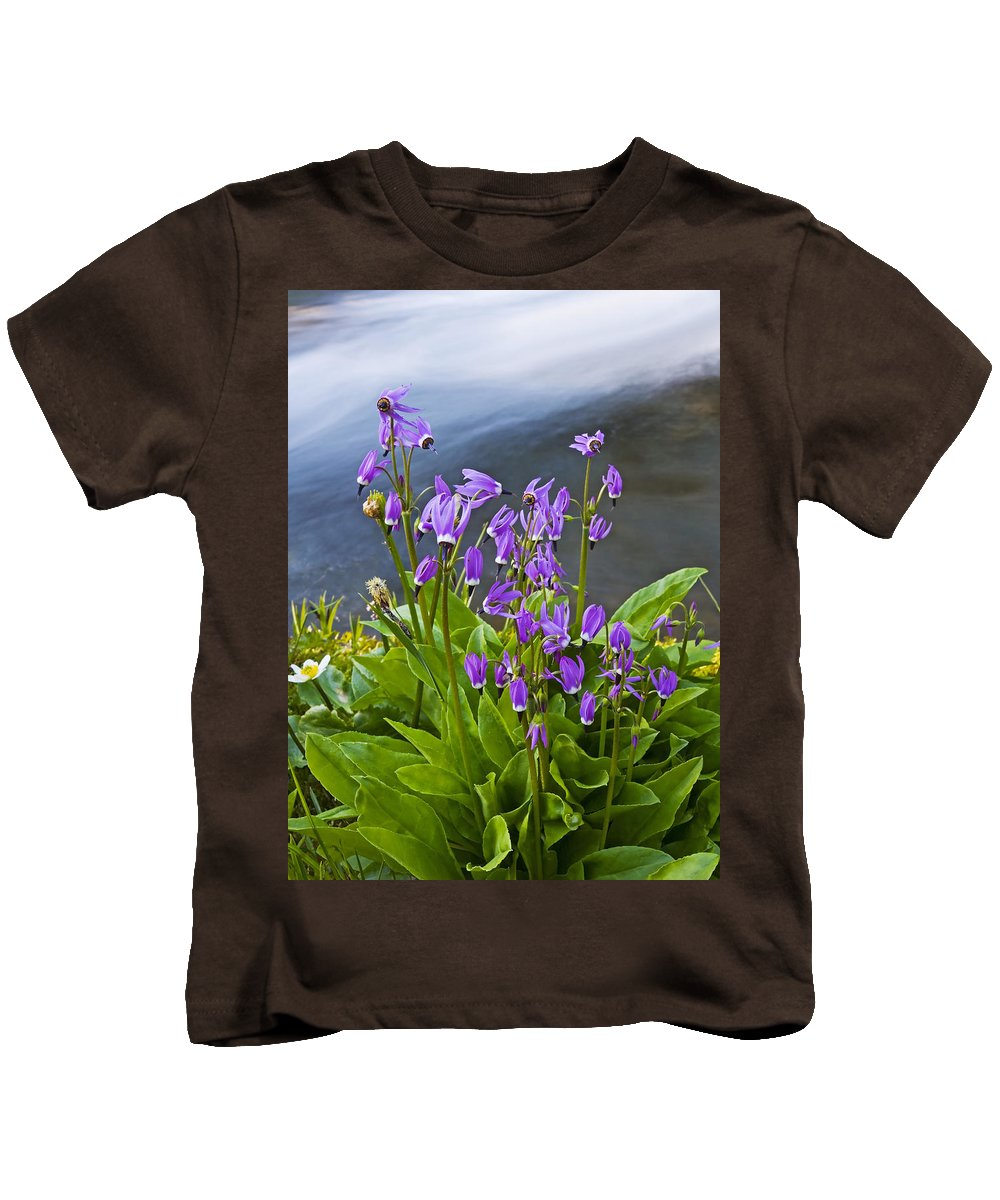 Wildlflowers Kids T-Shirt featuring the photograph Wildflower Cascade by Mike Dawson