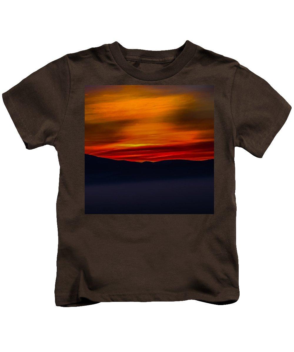 Kids T-Shirt featuring the photograph Winding Light by Dan Hassett