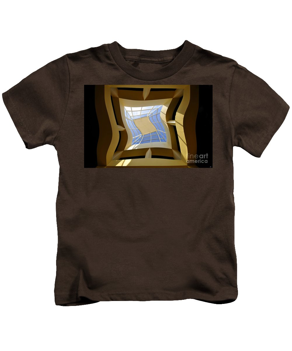 Art Kids T-Shirt featuring the painting Window To Another Dimension by David Lee Thompson