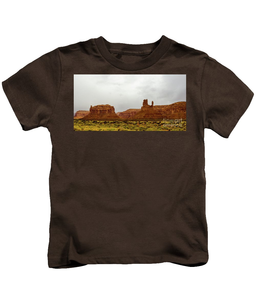 Valley Of The Gods Kids T-Shirt featuring the photograph Windy Day by Jerry Sellers
