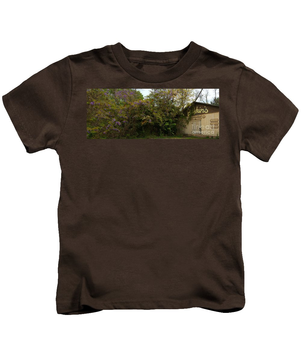 Wisteria Kids T-Shirt featuring the photograph Wisteria by James Hennis