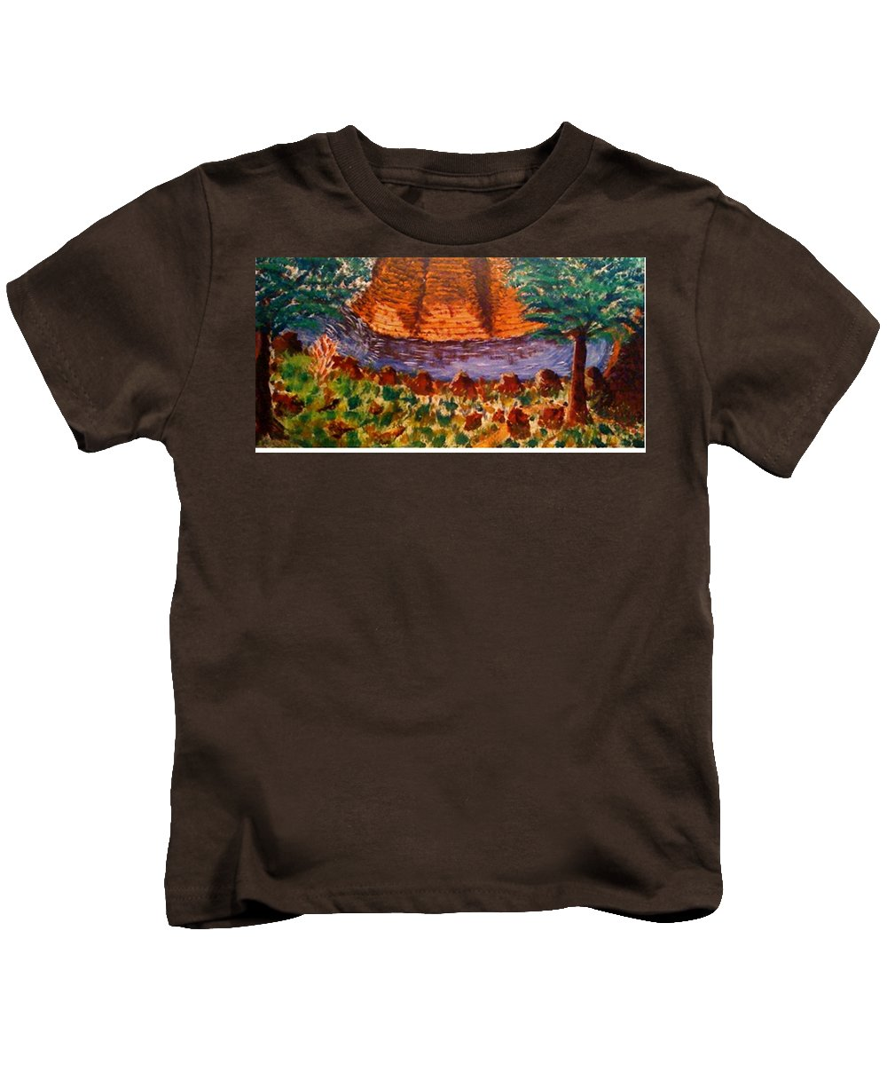 Nature Kids T-Shirt featuring the painting Wonder by R B