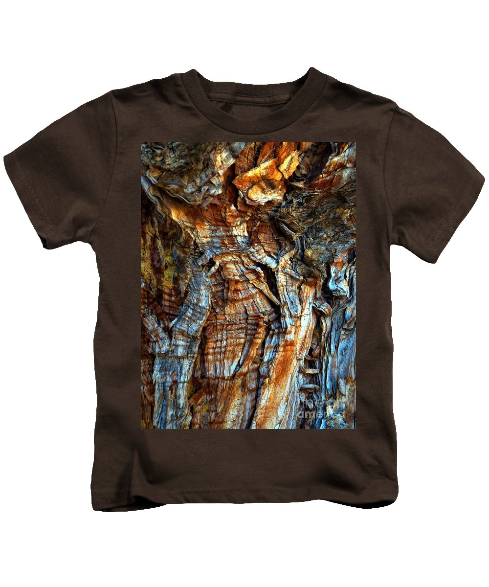 Abstract Kids T-Shirt featuring the photograph Wood Wrinkles by Lauren Leigh Hunter Fine Art Photography