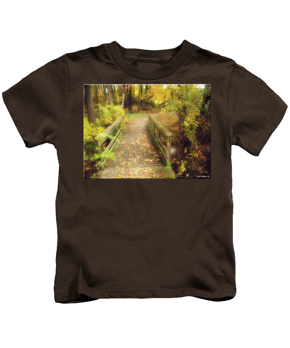 2d Kids T-Shirt featuring the photograph Wooden Bridge by Brian Wallace